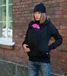 manduca by MaM Softshell Schwarz Black/Rock Grey Winter-Tragejacke Umstandsjacke