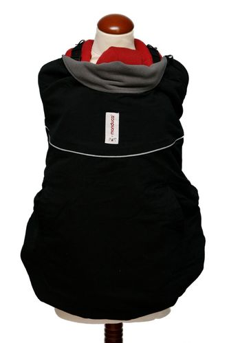 manduca by MaM Original Deluxe Babywearing Cover Black/Storm Cloud Tragecover